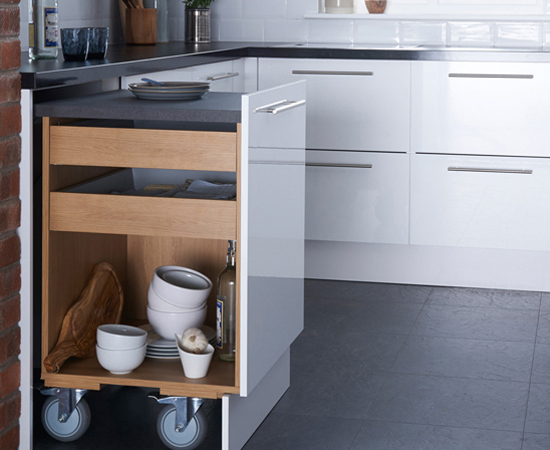 Worktop Extender is a space-efficient and flexible solution which has won the Red Dot Award for its design.